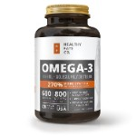Fish Oil Omega 3 Capsules Best Triple Strength Supplements with EPA DHA Oils
