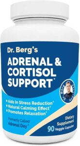 Dr. Berg's Adrenal & Cortisol Support Supplement - Natural Stress & Anxiety Relief for a Better Mood