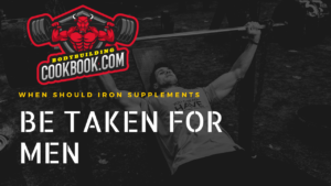 When should iron be taken for men